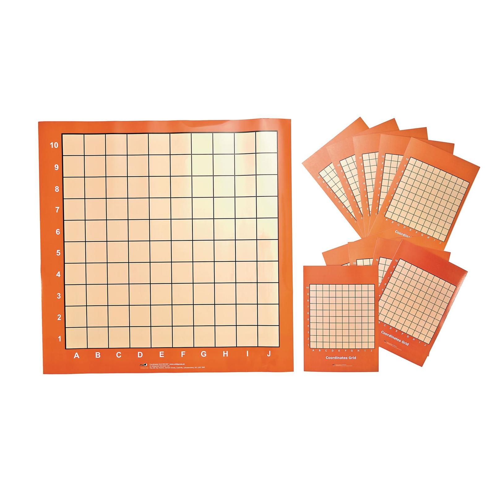 Wipeable Co-ordinates Grid