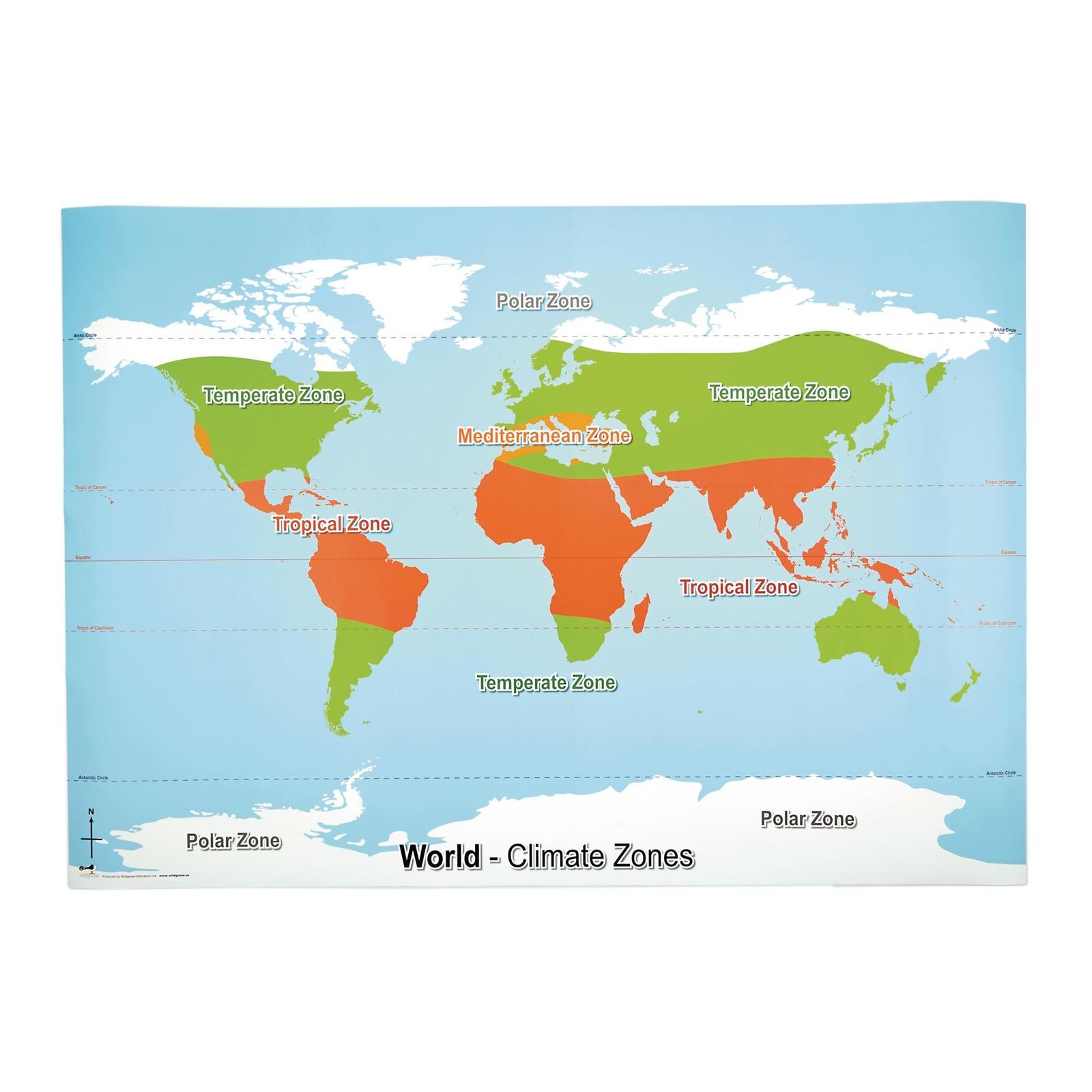 World Climate Zone Map Findel International