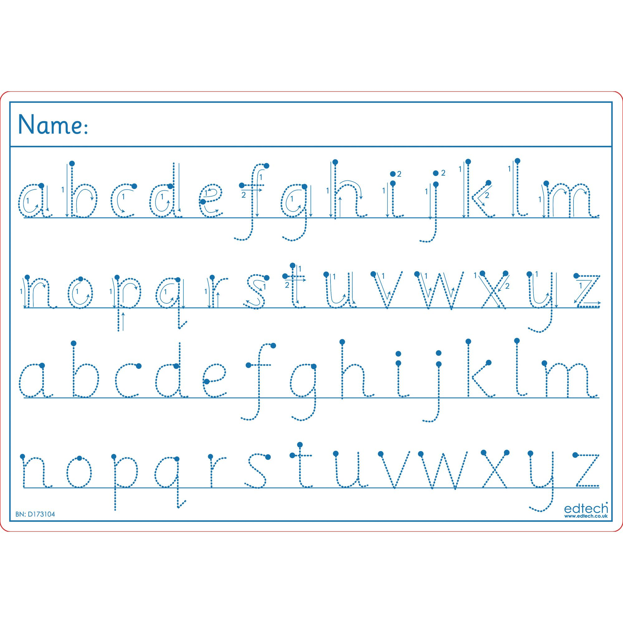 Alphabet Tracing Boards Pack of 30 - HE1361153 | Hope ...