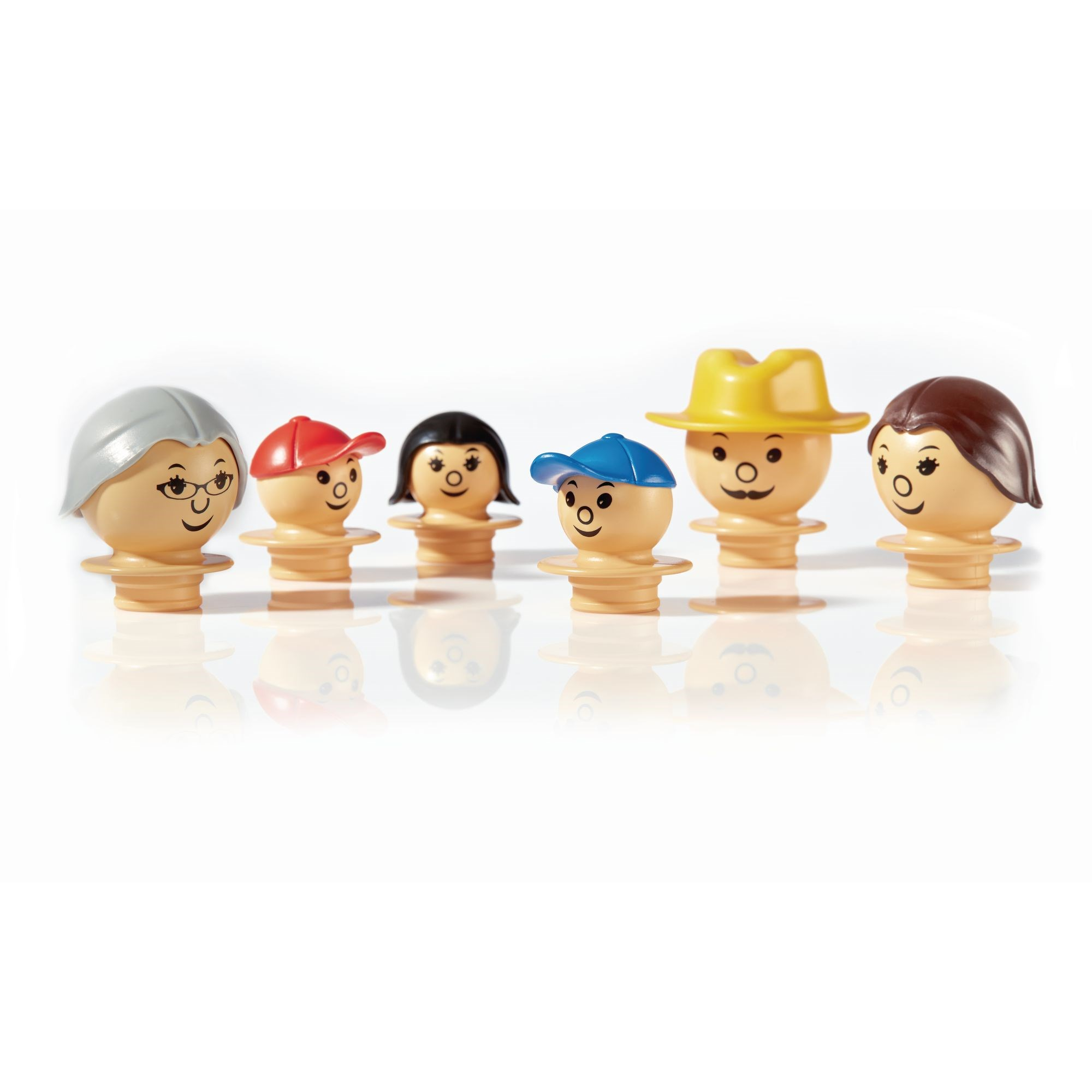 6 Mobilo Mixed Figures - White