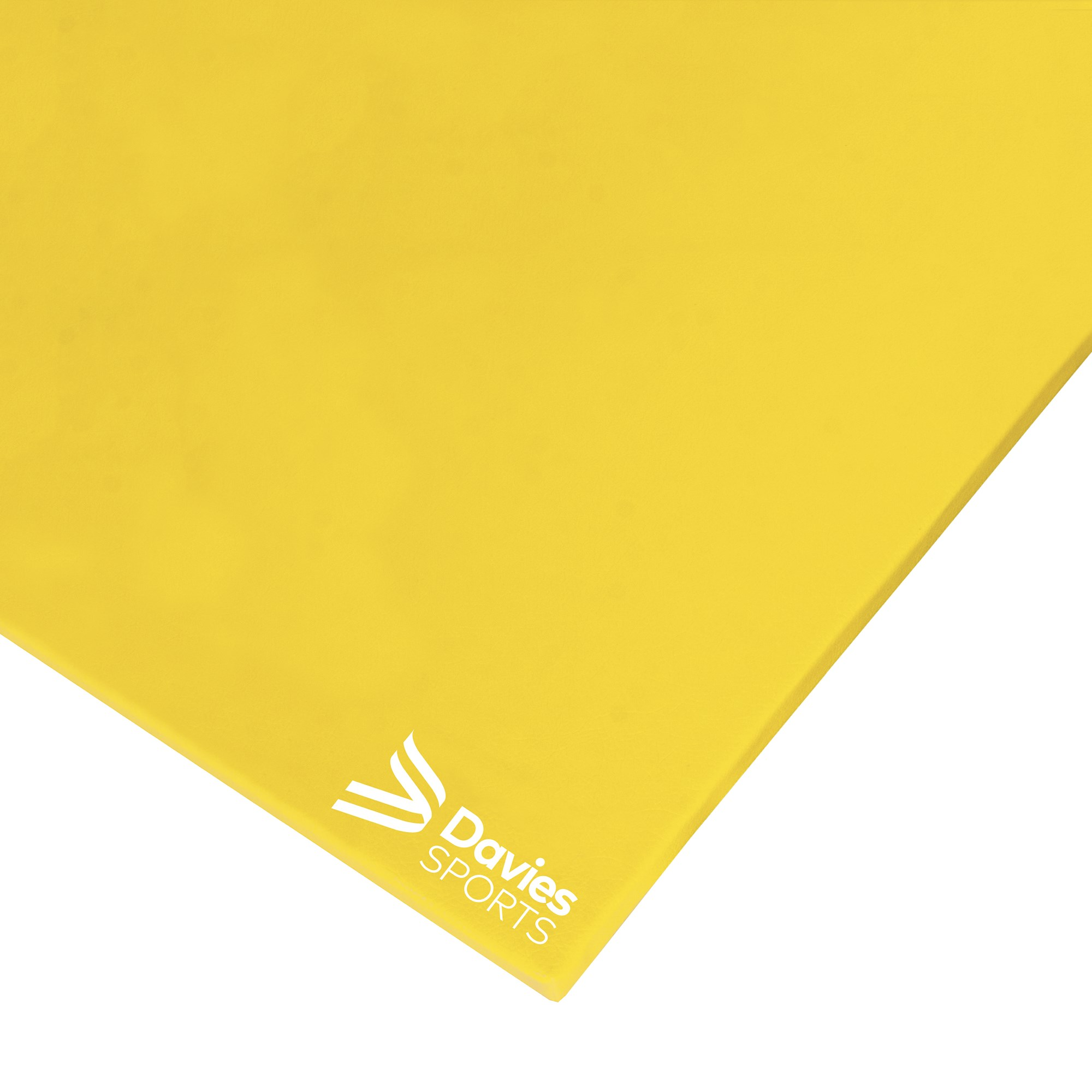 Davies Sports Deluxe Chipfoam Mat Rainbow Yellow - 1.83m x 1.22m x 19mm