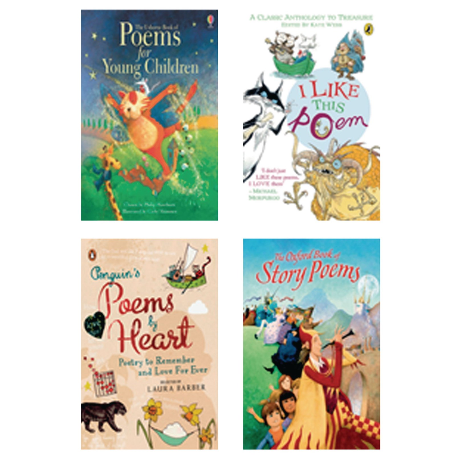 Classical Poetry Anthologies (5 to 11 Years) Pack of four
