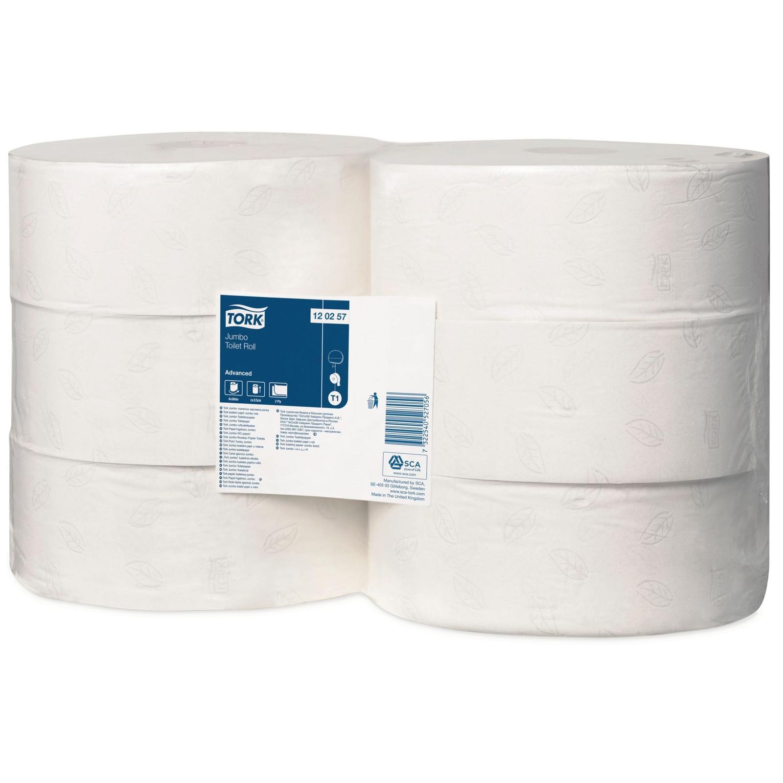Tork Jumbo Toilet Roll 2¼in Core - 2 Ply