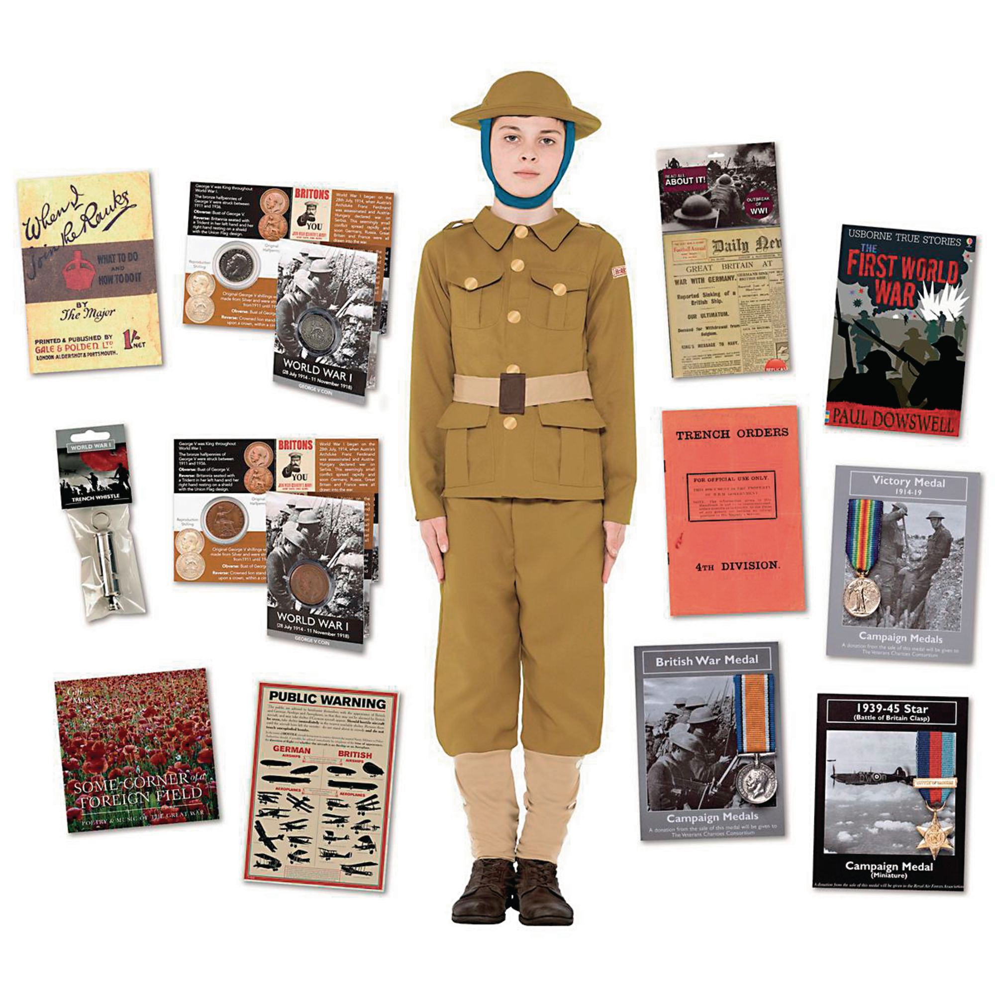 Horrible Histories Frightful First World War School Kit Stationery Set with Pe