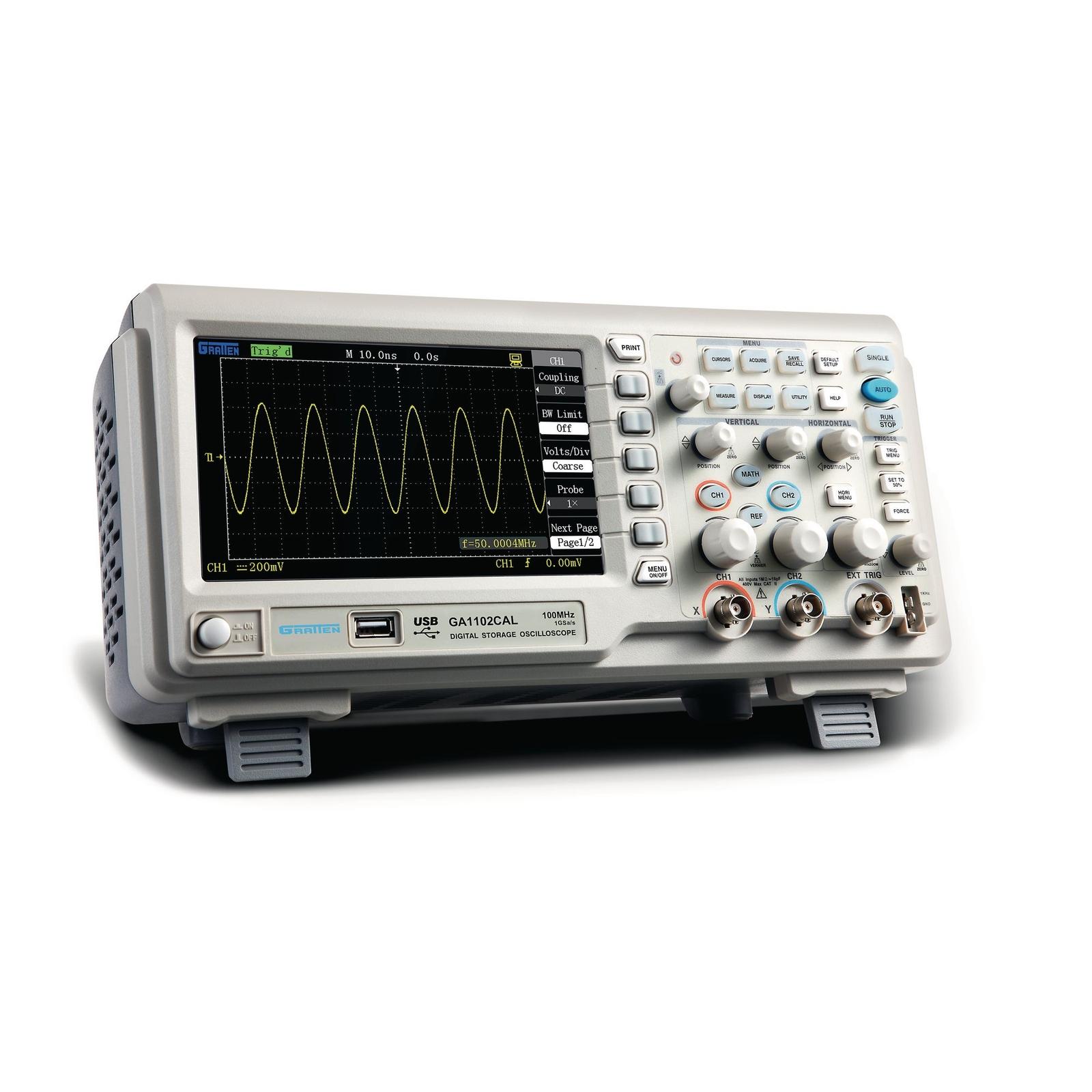 Oscilloscope Pulse Measurement : Mhz digital oscilloscope philip harris