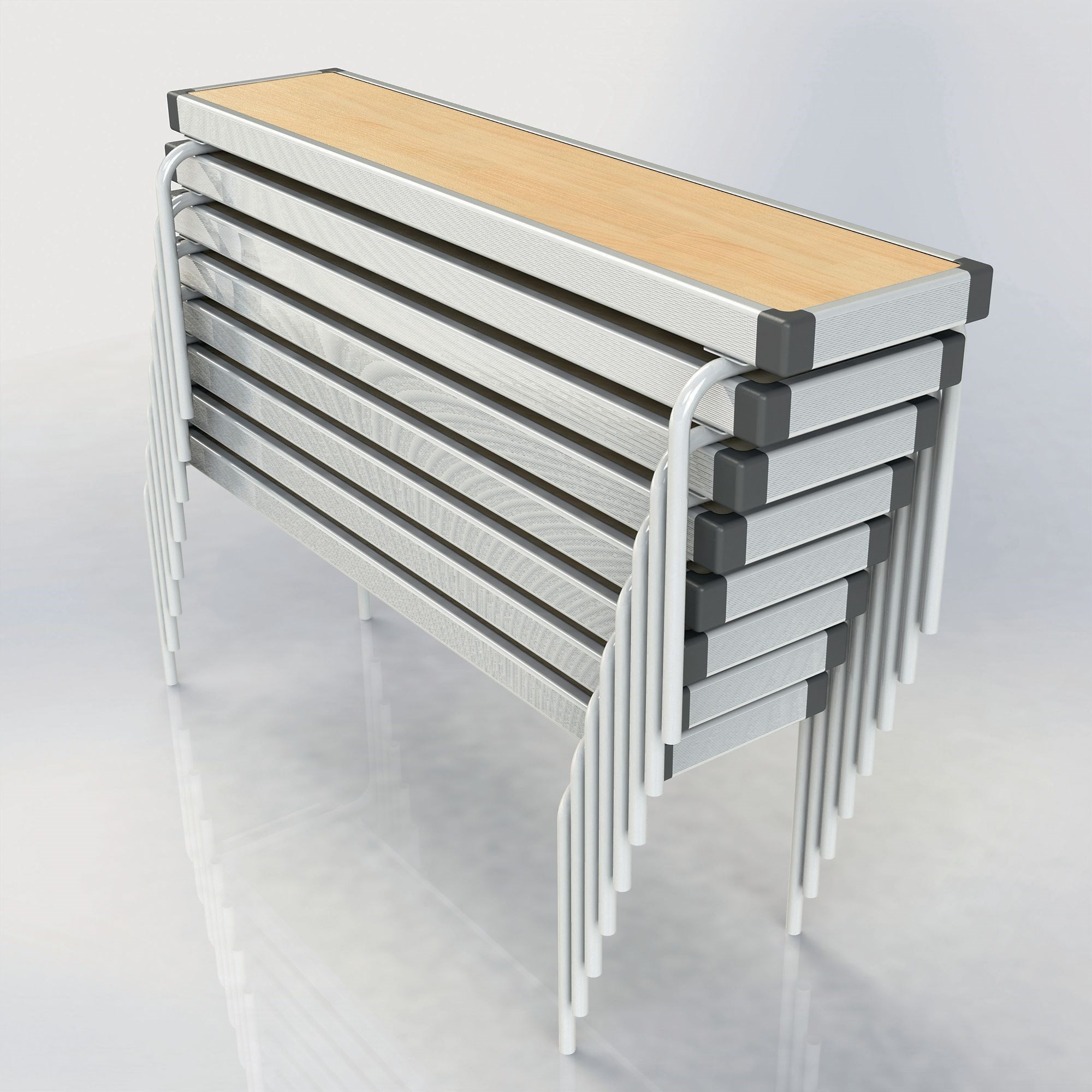 Rectangular Benches L1220 x H330 x W254mm Oak