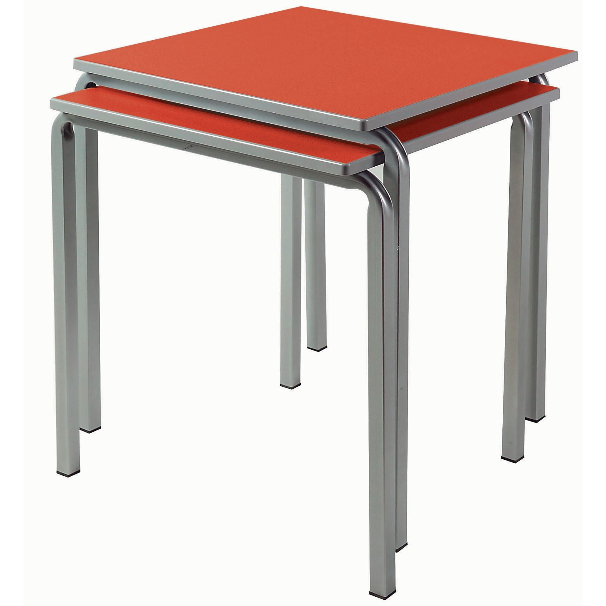 Square Table 600x600x460 W CH Grey