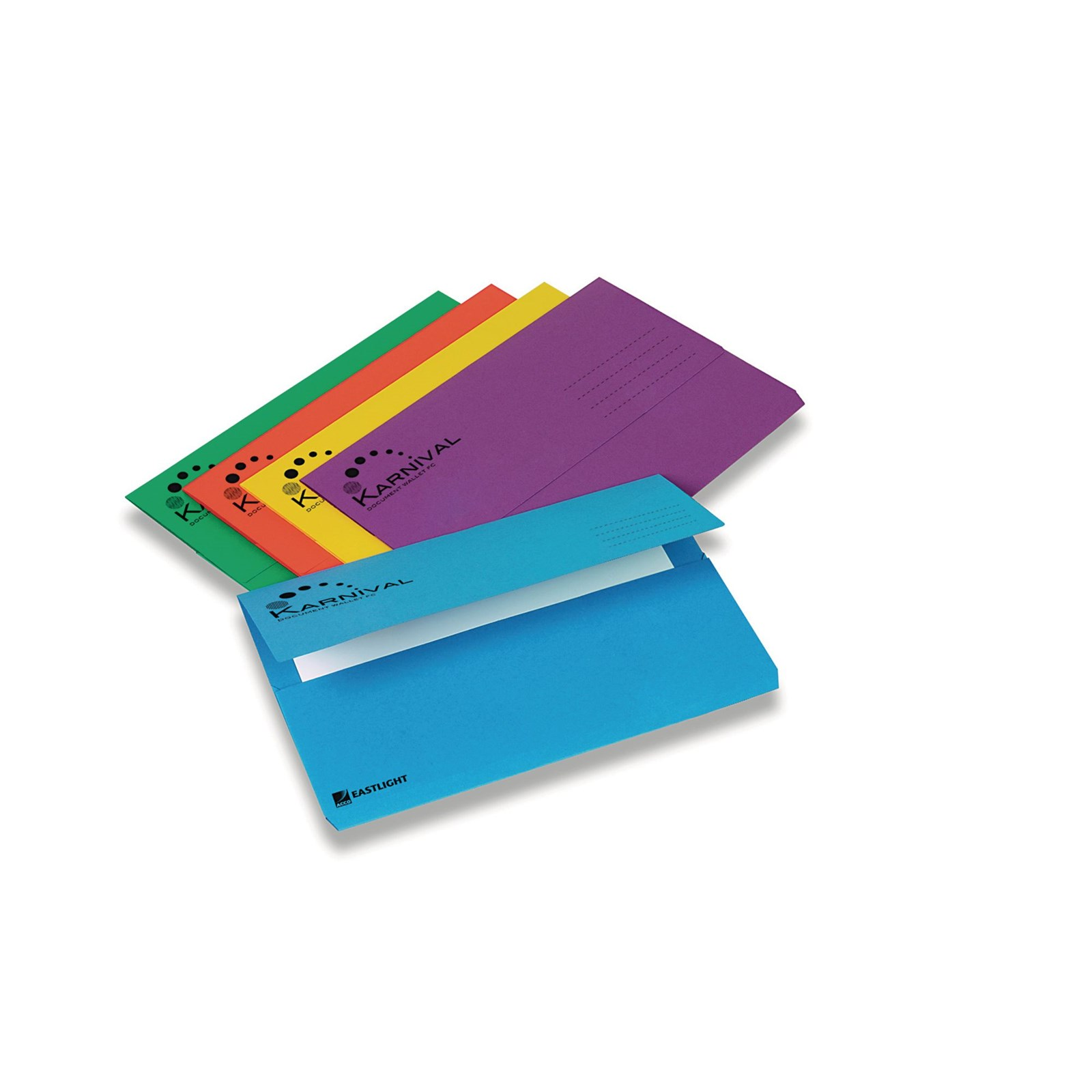 Karnival Document Wallet Foolscap - Assorted - Pack of 25