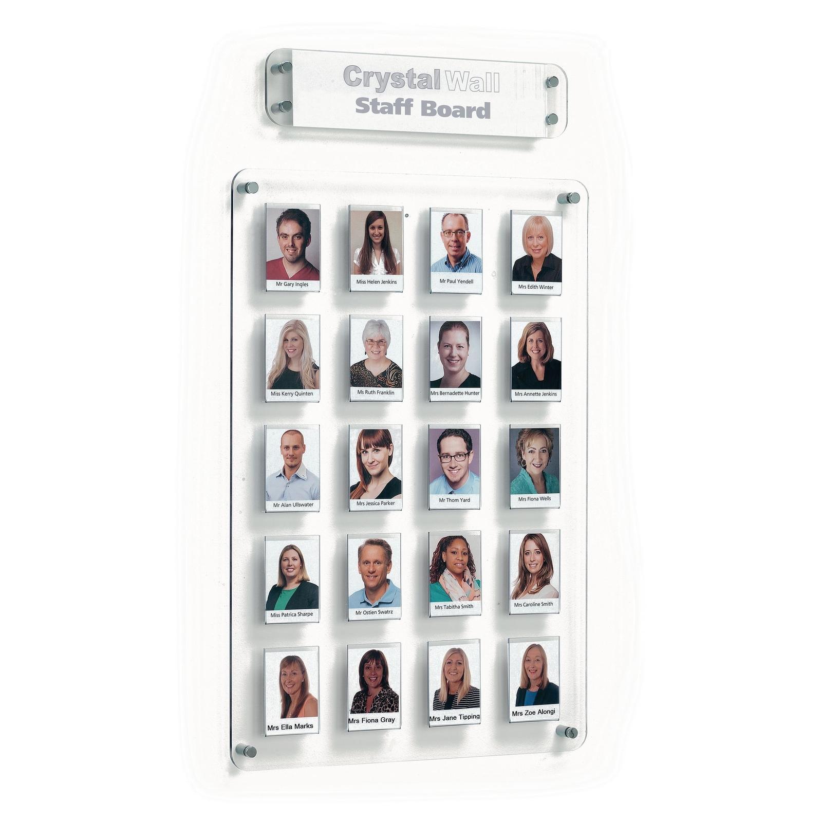 Crystal Wall Staff Board - 35 pockets