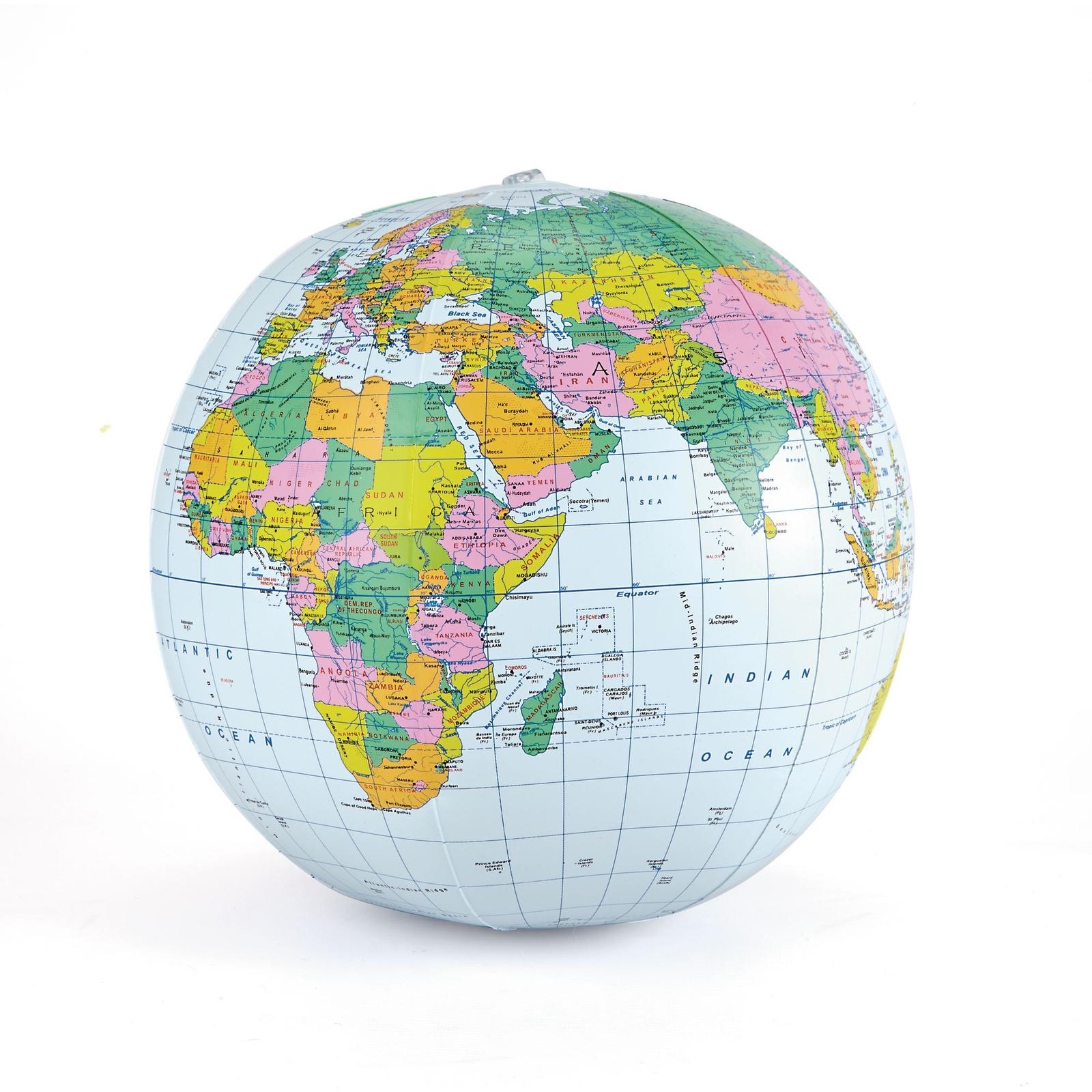 political inflatable globe
