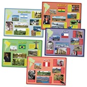 South American Countries Poster Pack