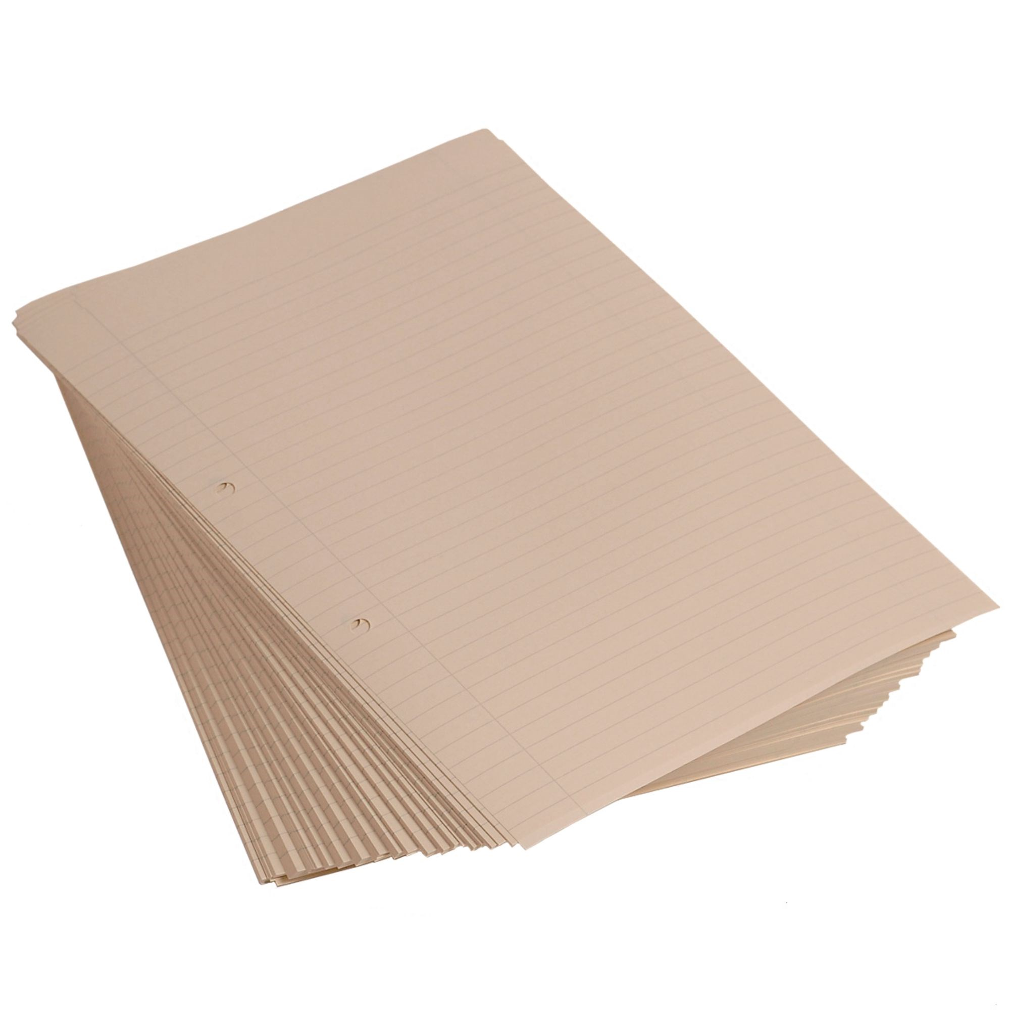 A4 Loose Leaf Cream Paper 8mm Ruled with Margin 2 Hole Punched (Pack of 500)