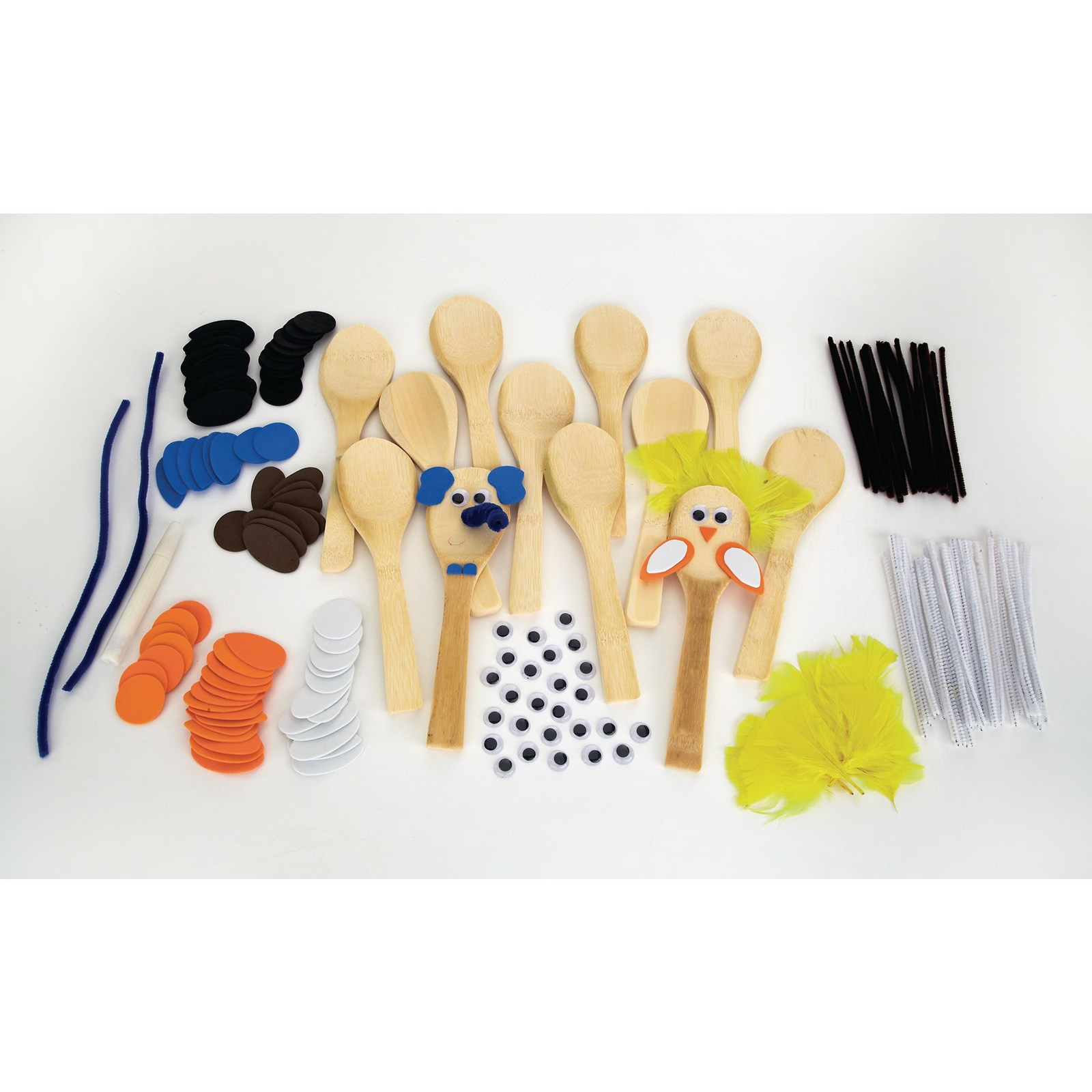 Animal Wooden Spoons Pack of 10