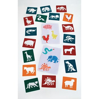 Bumper Animal Themed Stencils - Pack of 36