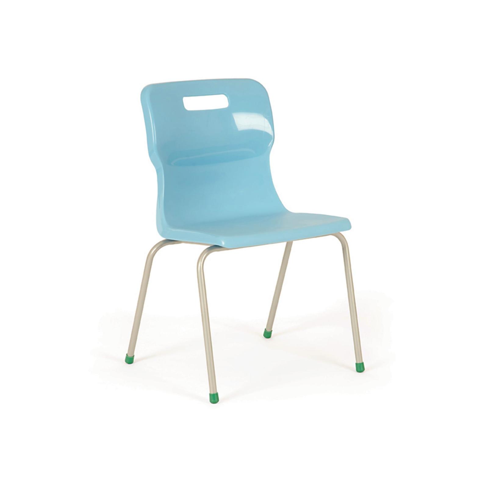 Titan 4 Leg Chairs - Size 6 Age 14+ Sky Blue