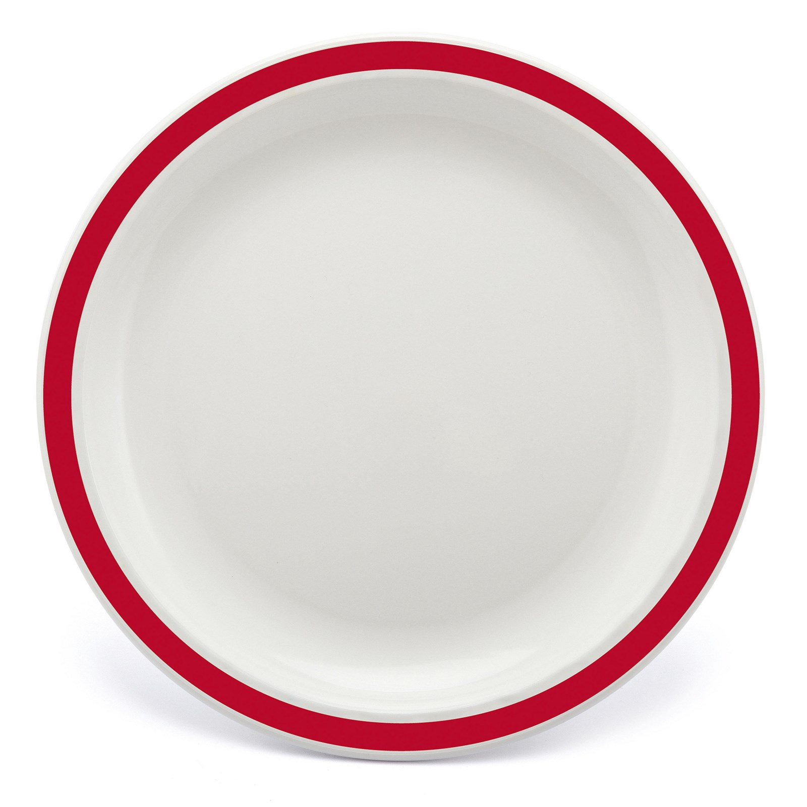 Narrow Rimmed Plates 170mm Red