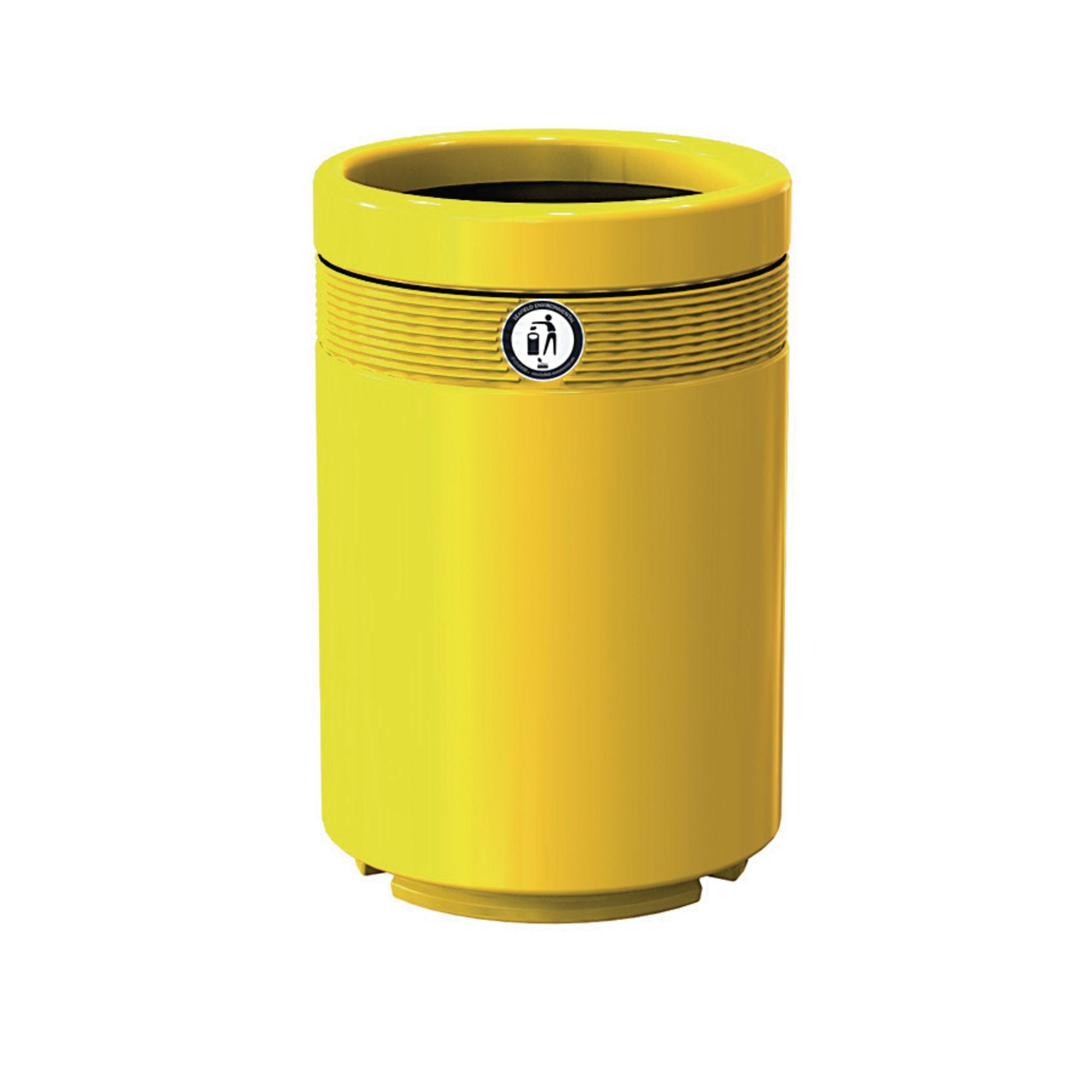 Monarch Litter Bin Economy Yellow