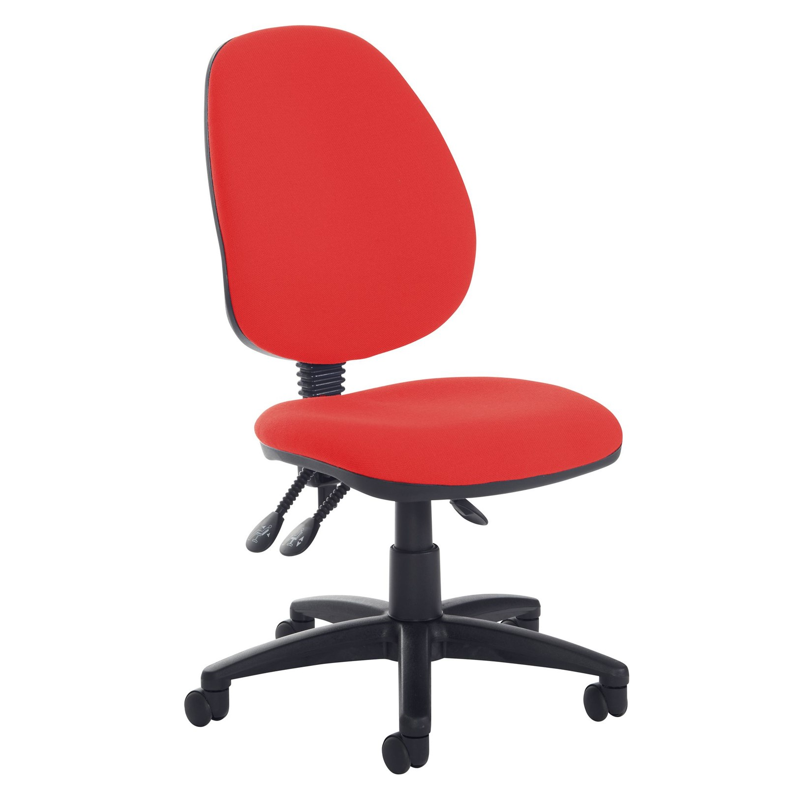 high back operator chair no arms blue hope education