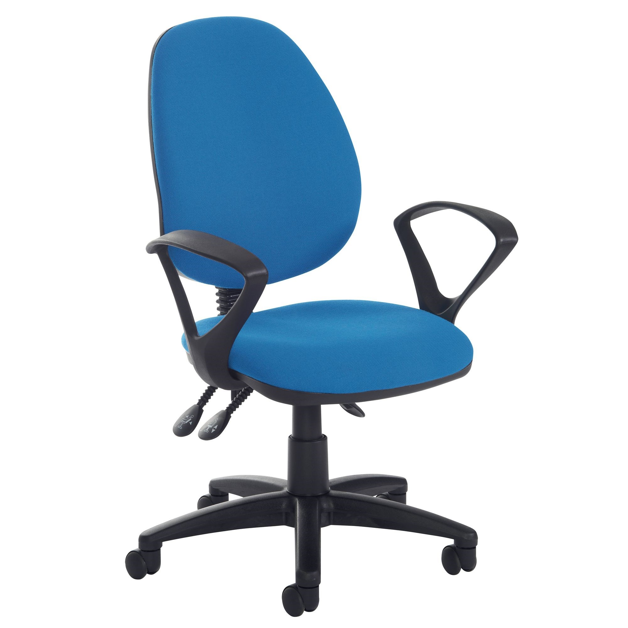 Operators Chair High Back Adjustable Padded Arms Black
