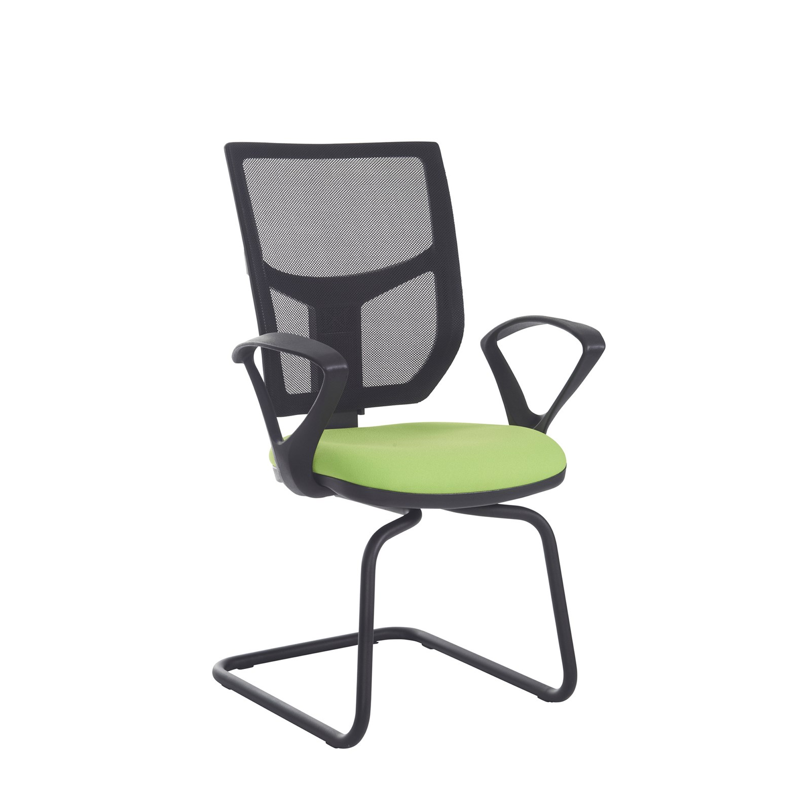 Mesh back chair fixed arms