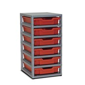 GratStack Single Column - Orange trays