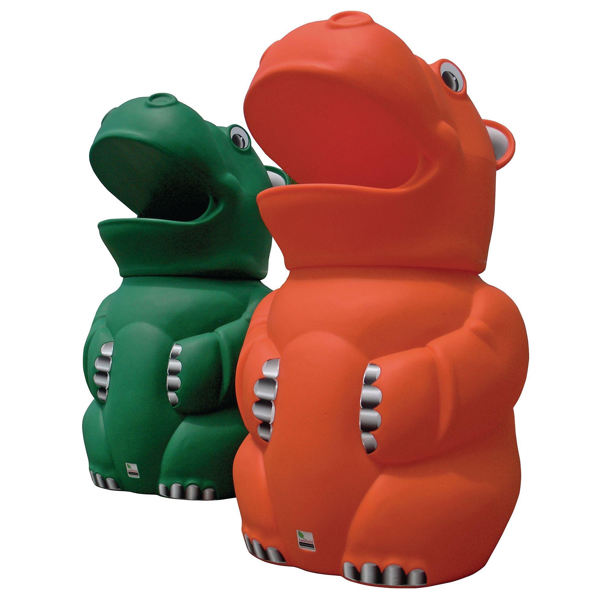 Hippo Bin Green