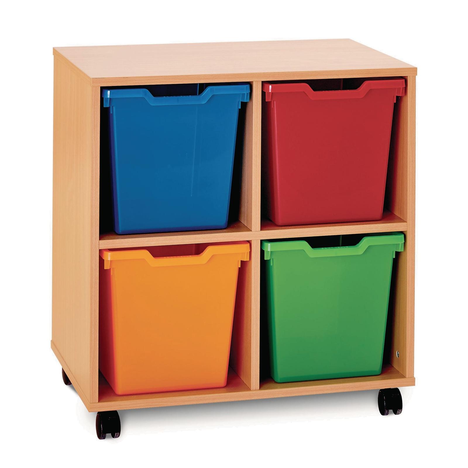 4 Jumbo Tray Unit - Maple Unit - Assorted Trays Included