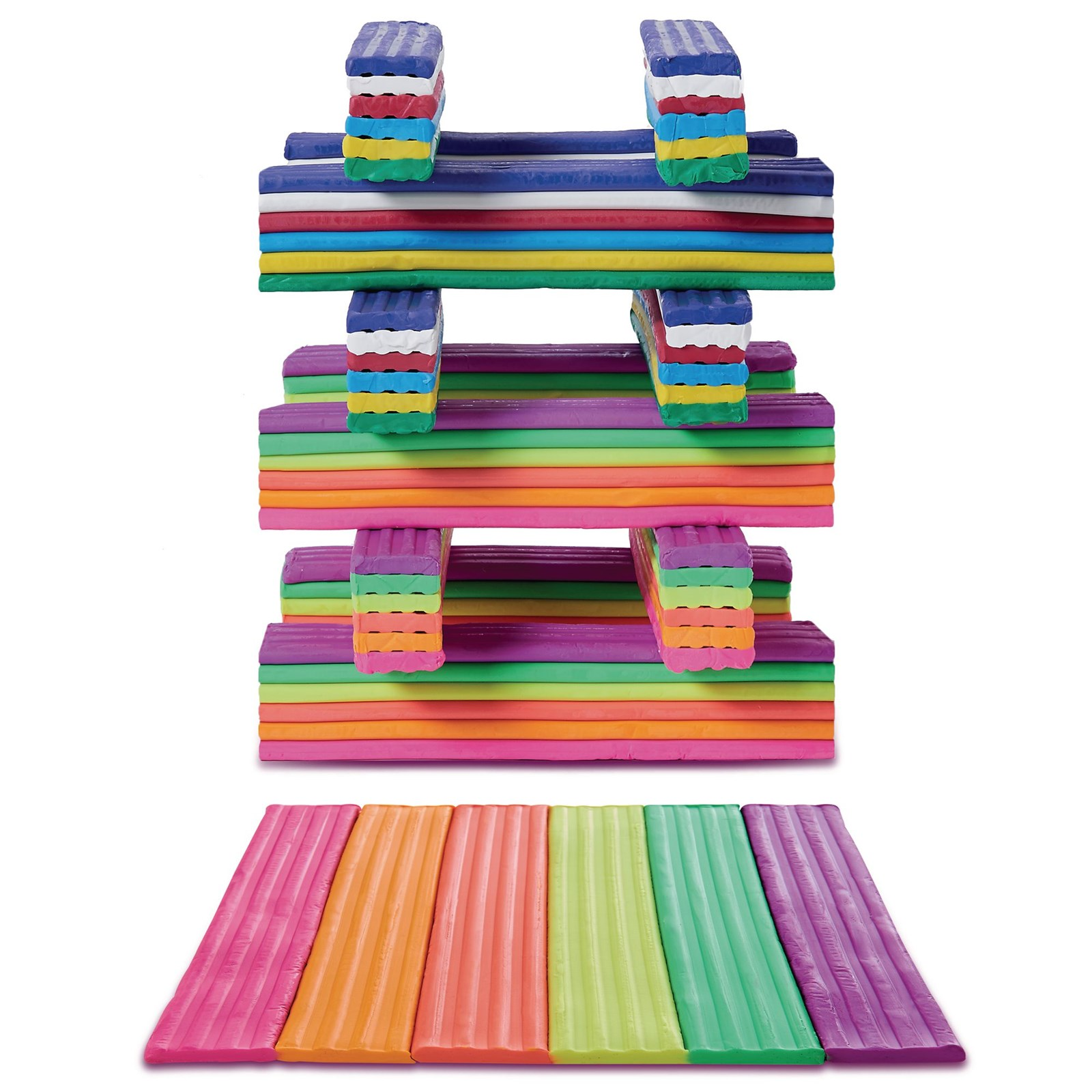 Rainbow Neon Clay Offer Pack of 6