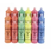 Classmates  Ready Mixed Paint in Fluorescent - Pack of 18 - 600ml Bottle