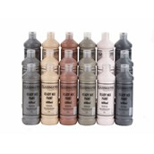 Classmates  Ready Mixed Paint in Skin Tones - Pack of 18 - 600ml Bottle