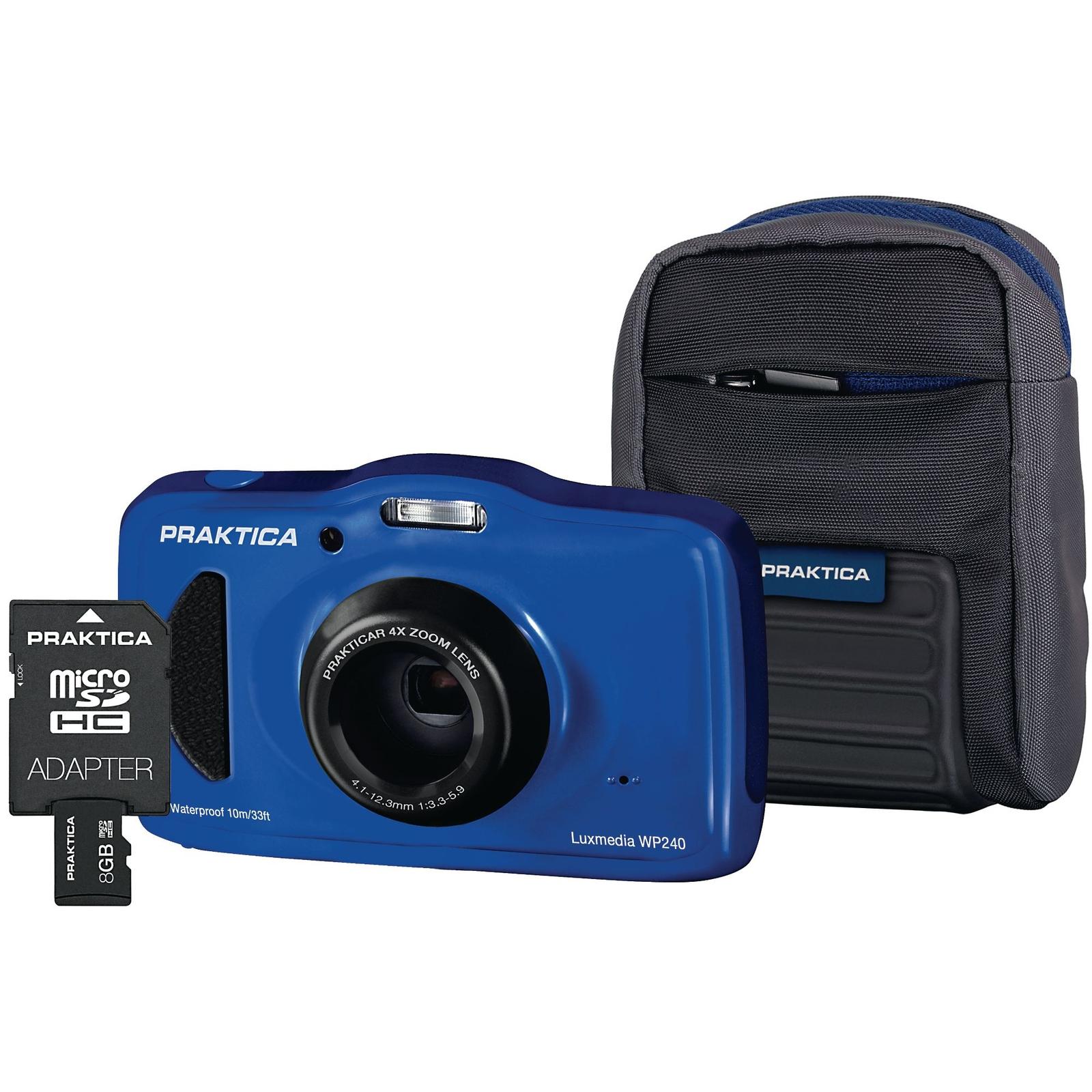 Praktica Luxmedia WP240 Waterproof Camera Kit - Blue