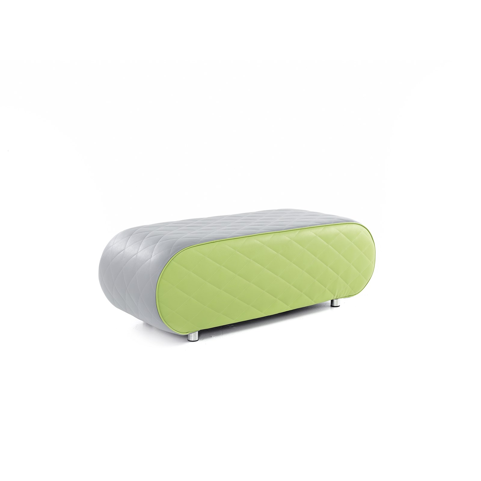 Large Ellipse - Grey and Lime