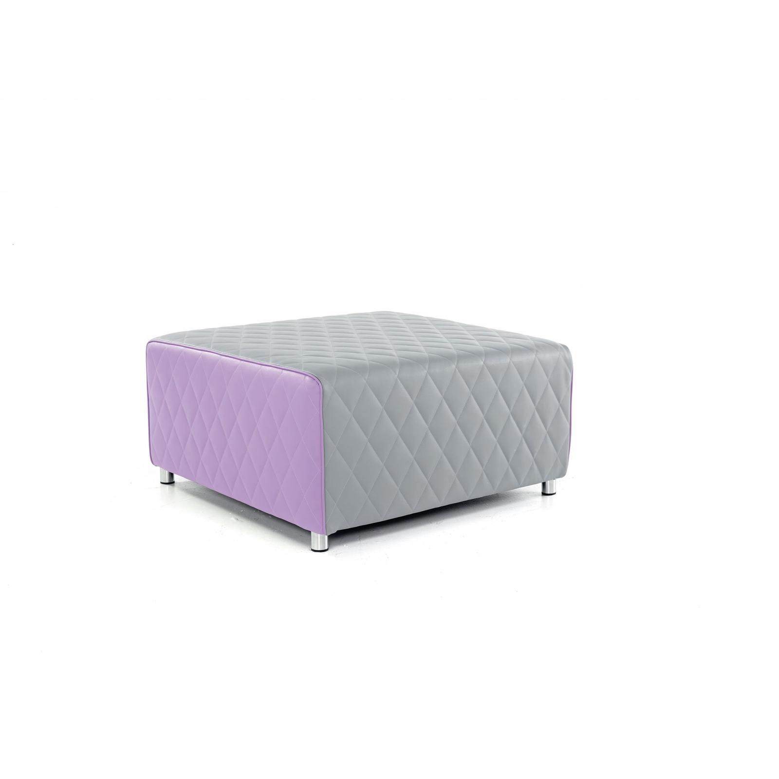 Square Breakout Seat 4 Person - Grey and Purple