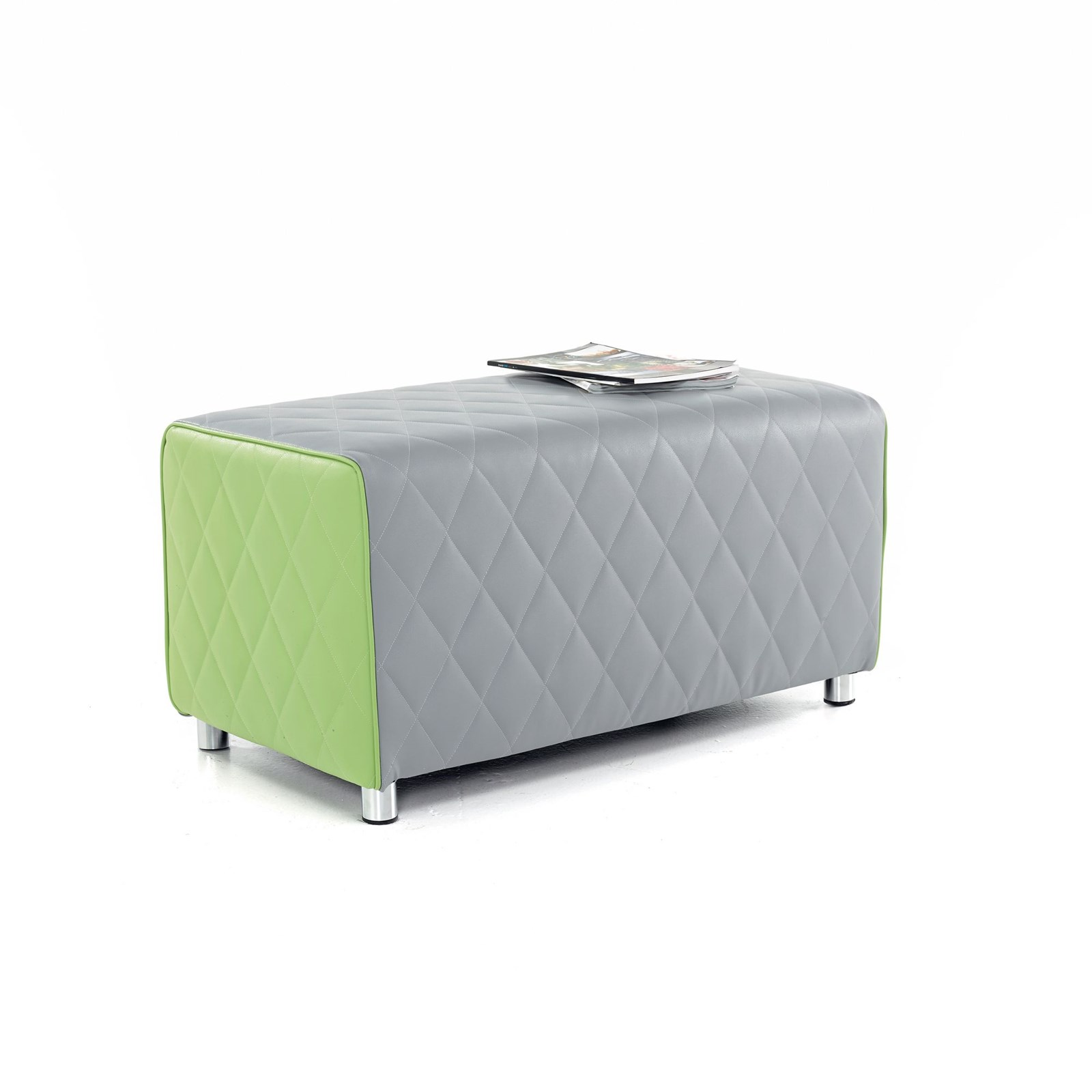 Rectangular Breakout Seat 2 Person - Grey and Purple
