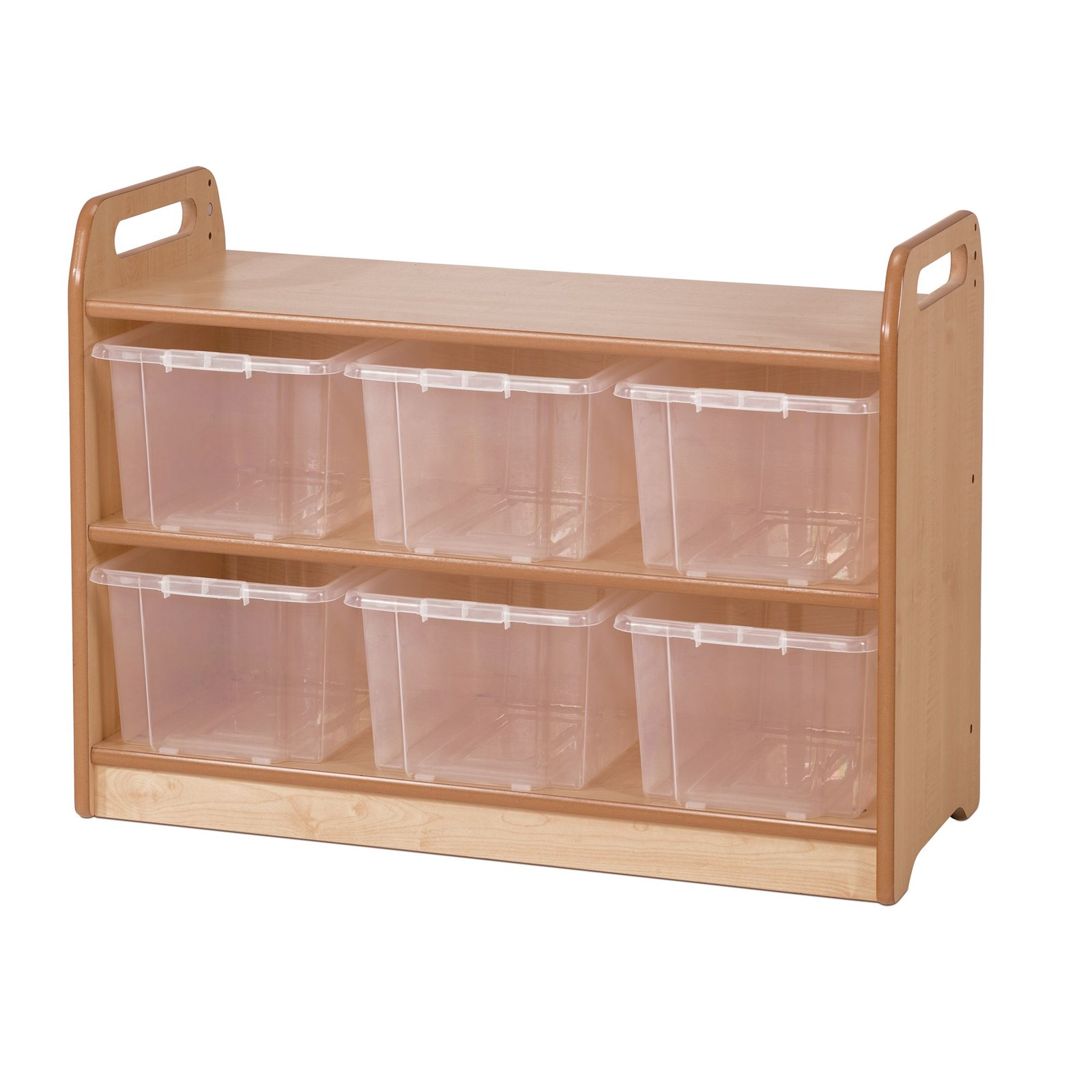 Playscapes Display Unit With Mirror - Clear Baskets