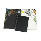 Black and White Spiral Sketchbooks - A3
