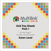 Multilink® Grid Tray Sheets Pack 1 for Key Stage 1 - Number and Geometry