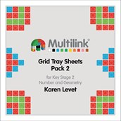 Multilink® Grid Tray Sheets Pack 2 for Key Stage 2 - Number and Geometry