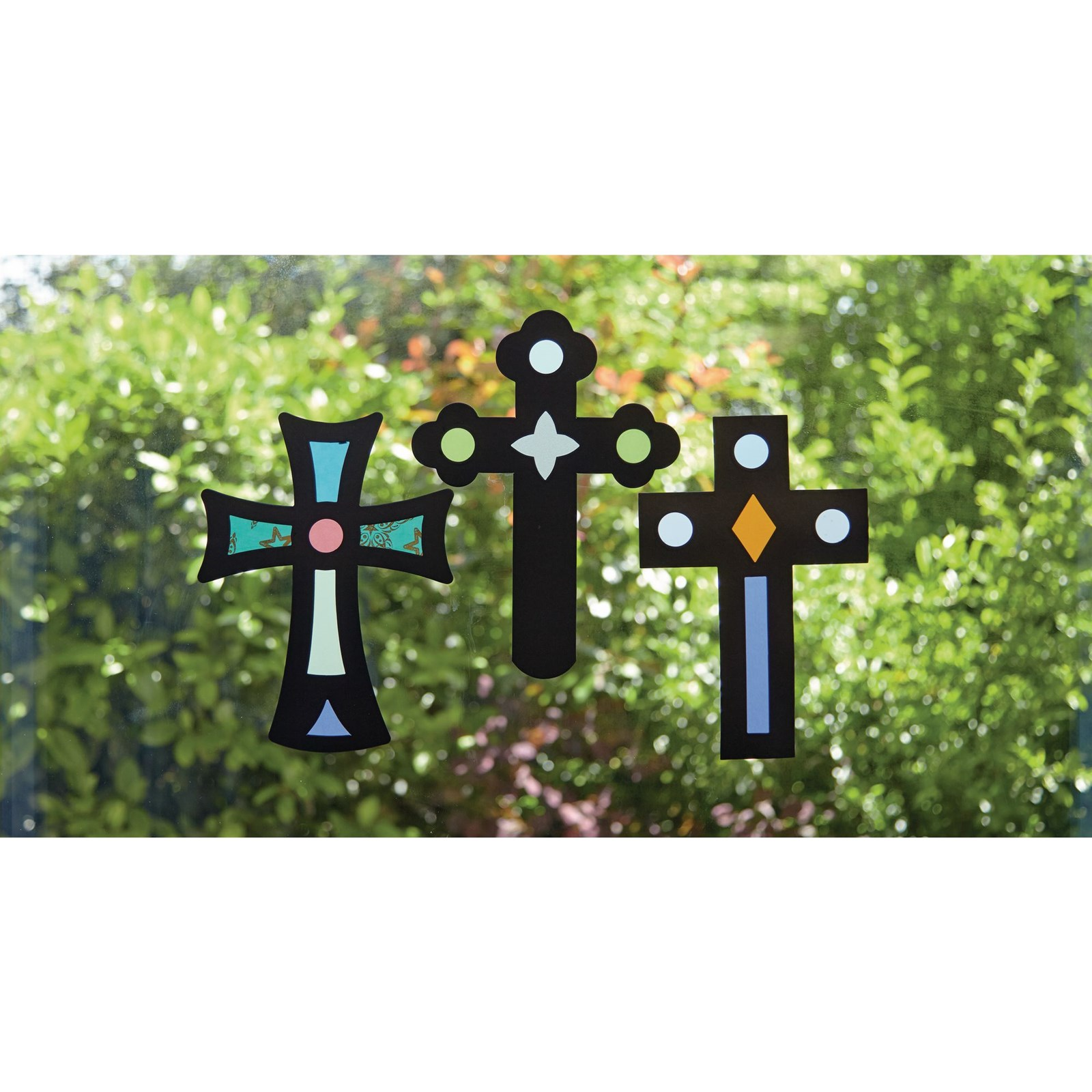 Stained Glass Cross Pack of 30
