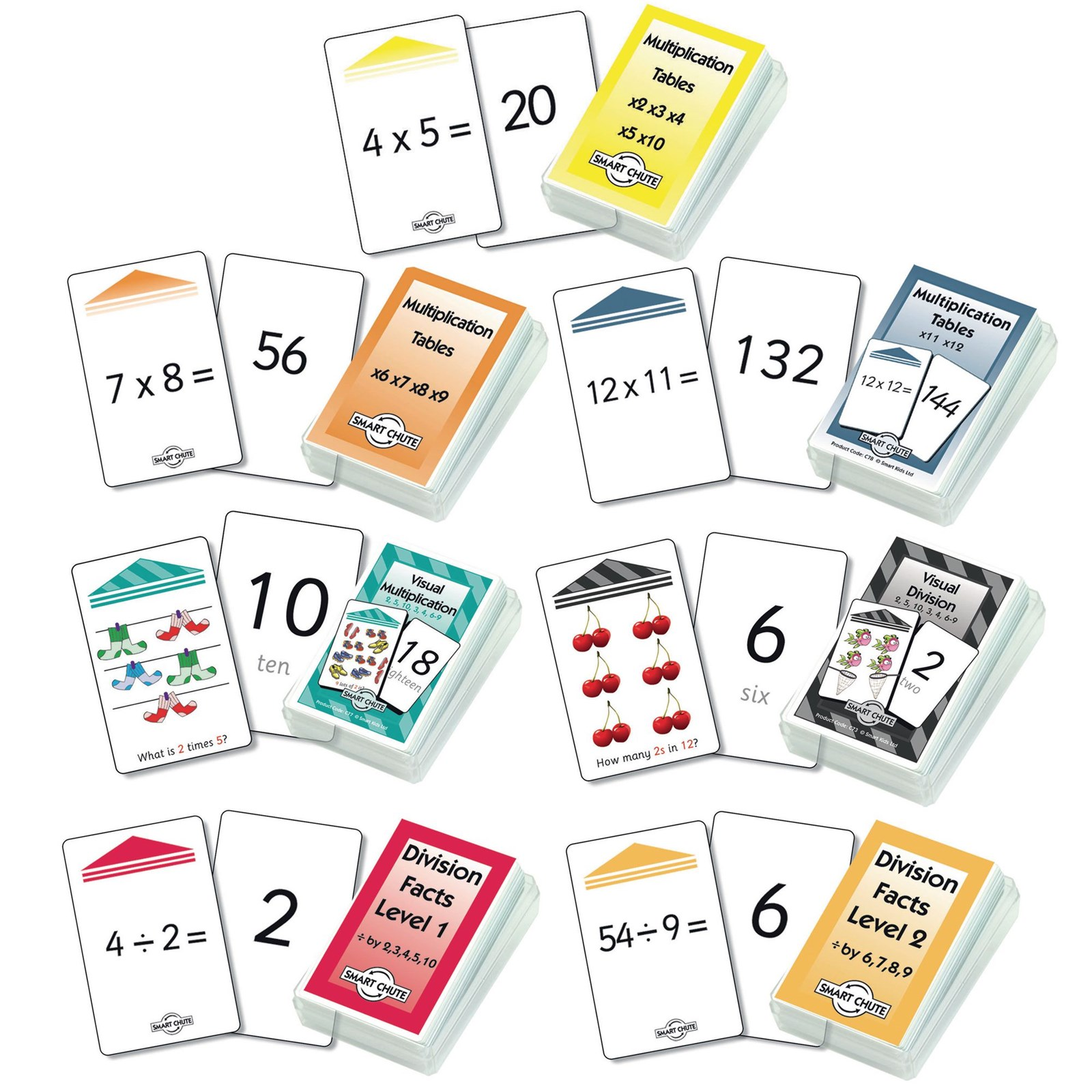 Smart Chute Multiplication and Division Cards Set