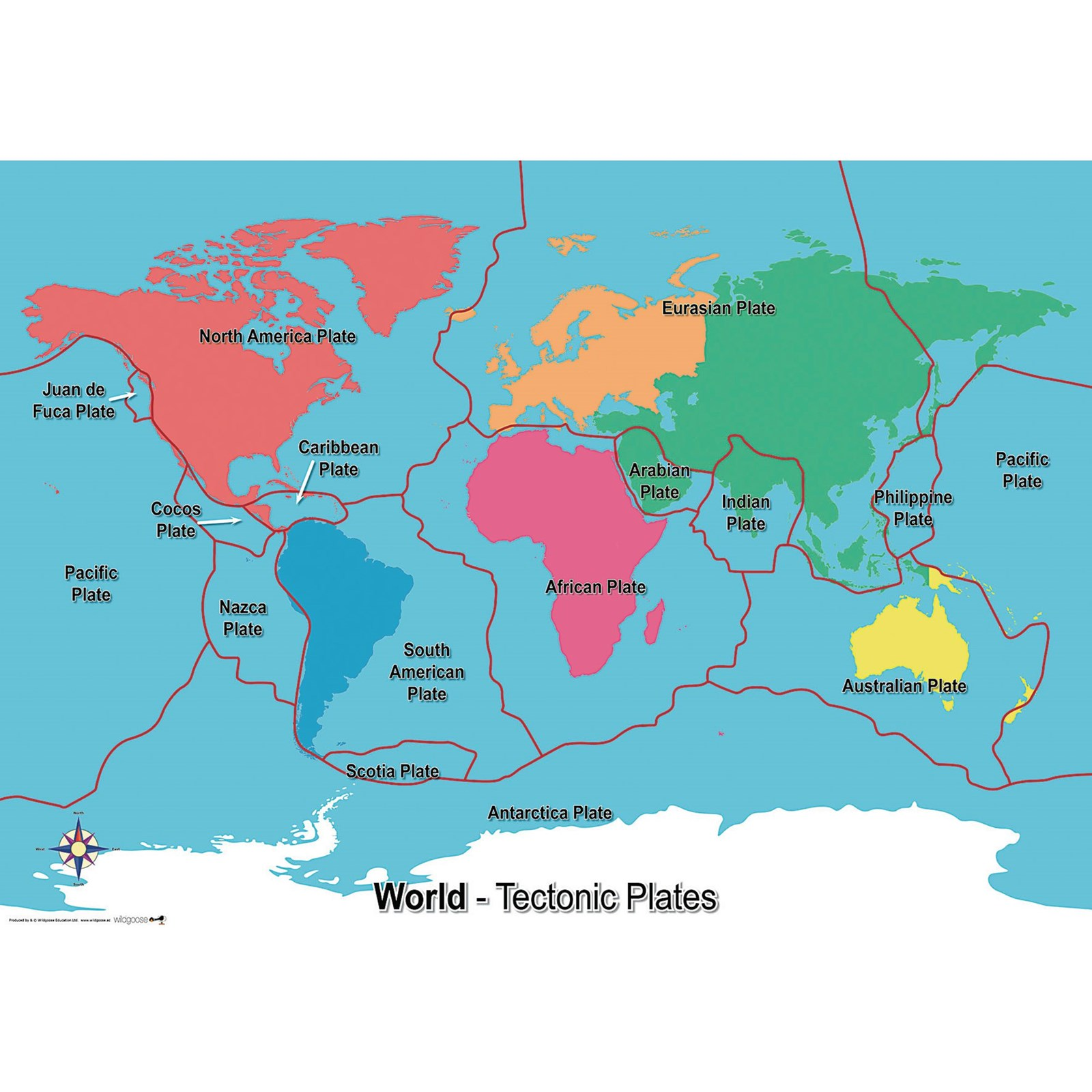 Tectonic Plates Map | Findel International