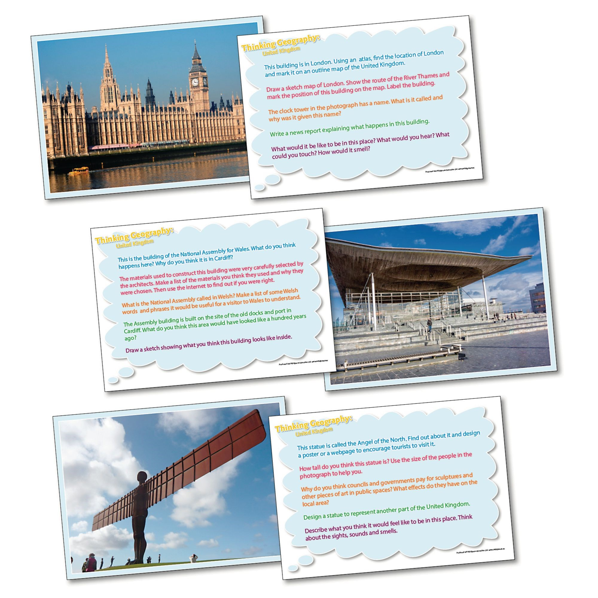 Thinking Geography Cards - The Uk