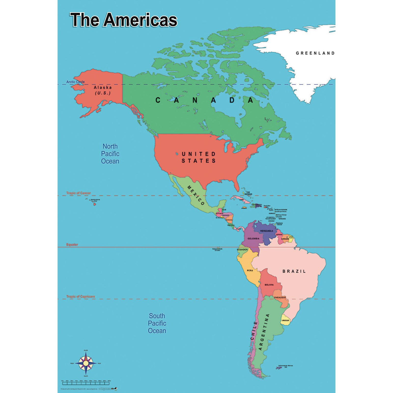Simple Map Of America Hope Education