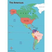 Simple Map of America