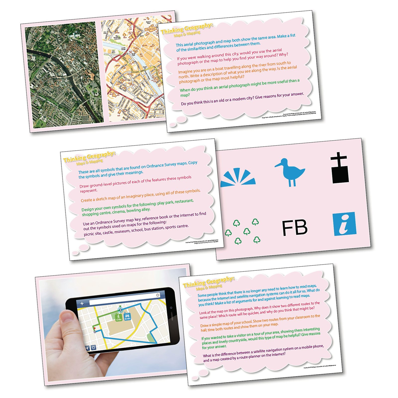 Thinking Geog Cards - Maps and Mapping