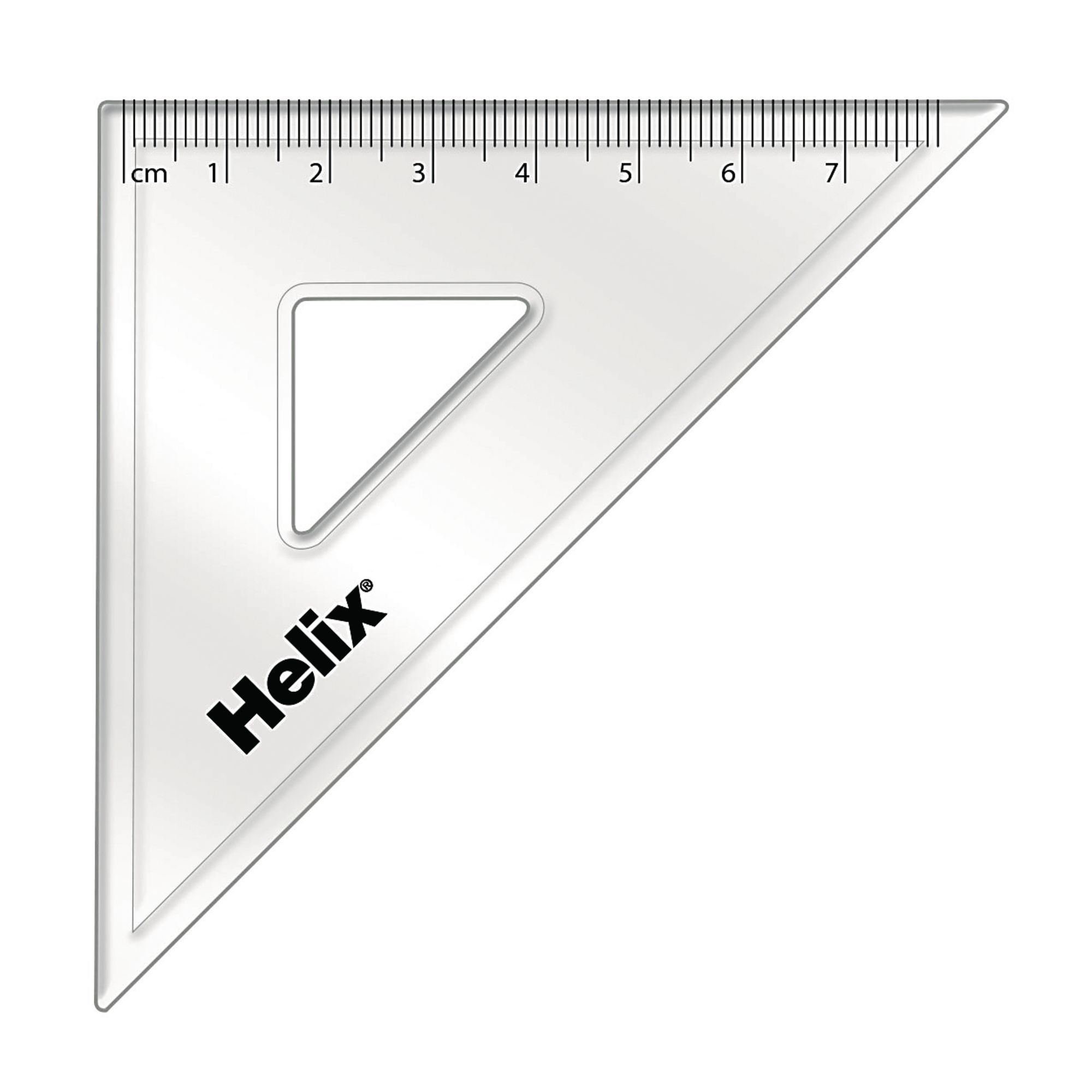 Set Square Clear 45 Degree 120mm Pack 12 G1535124