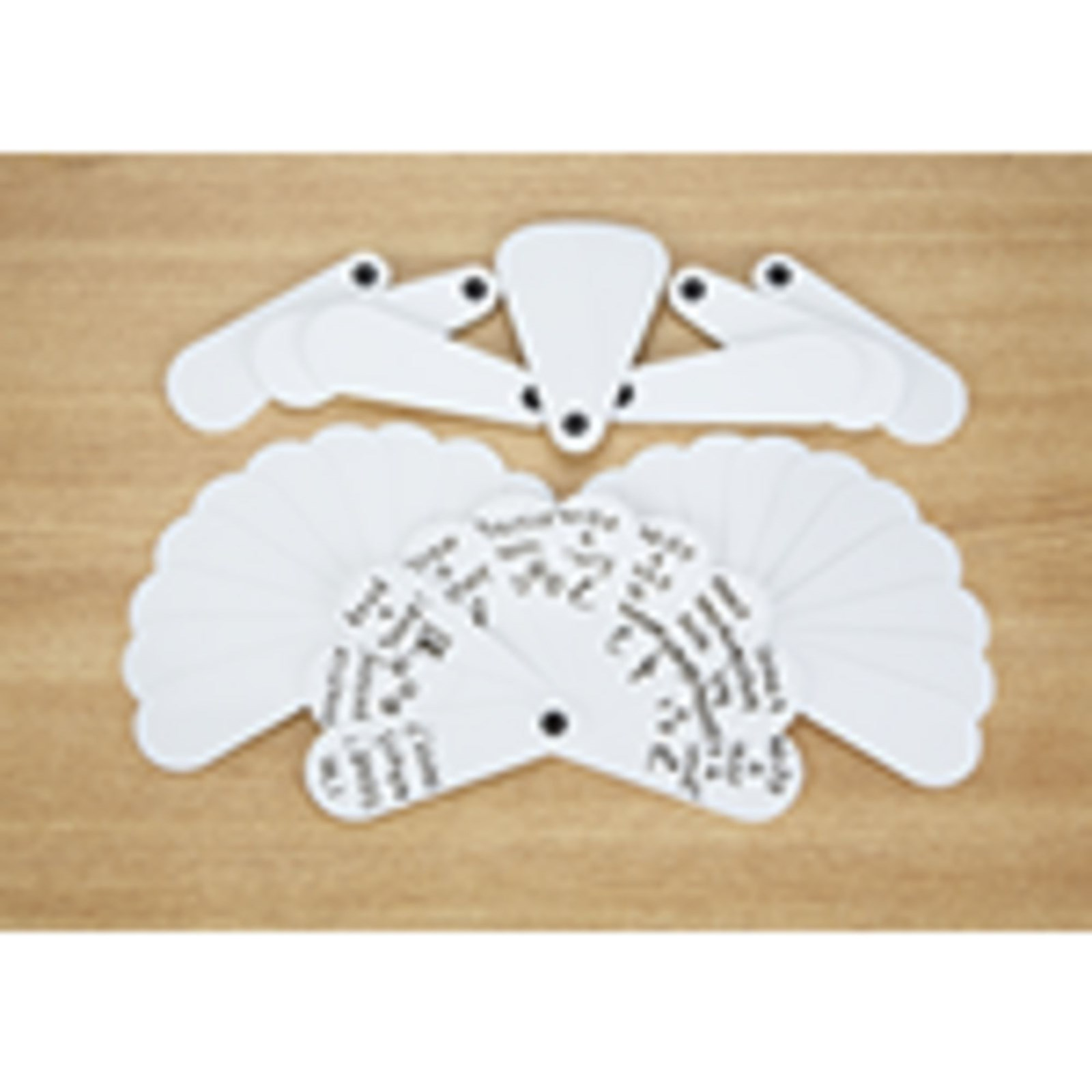 Blank Fans Pack of 10