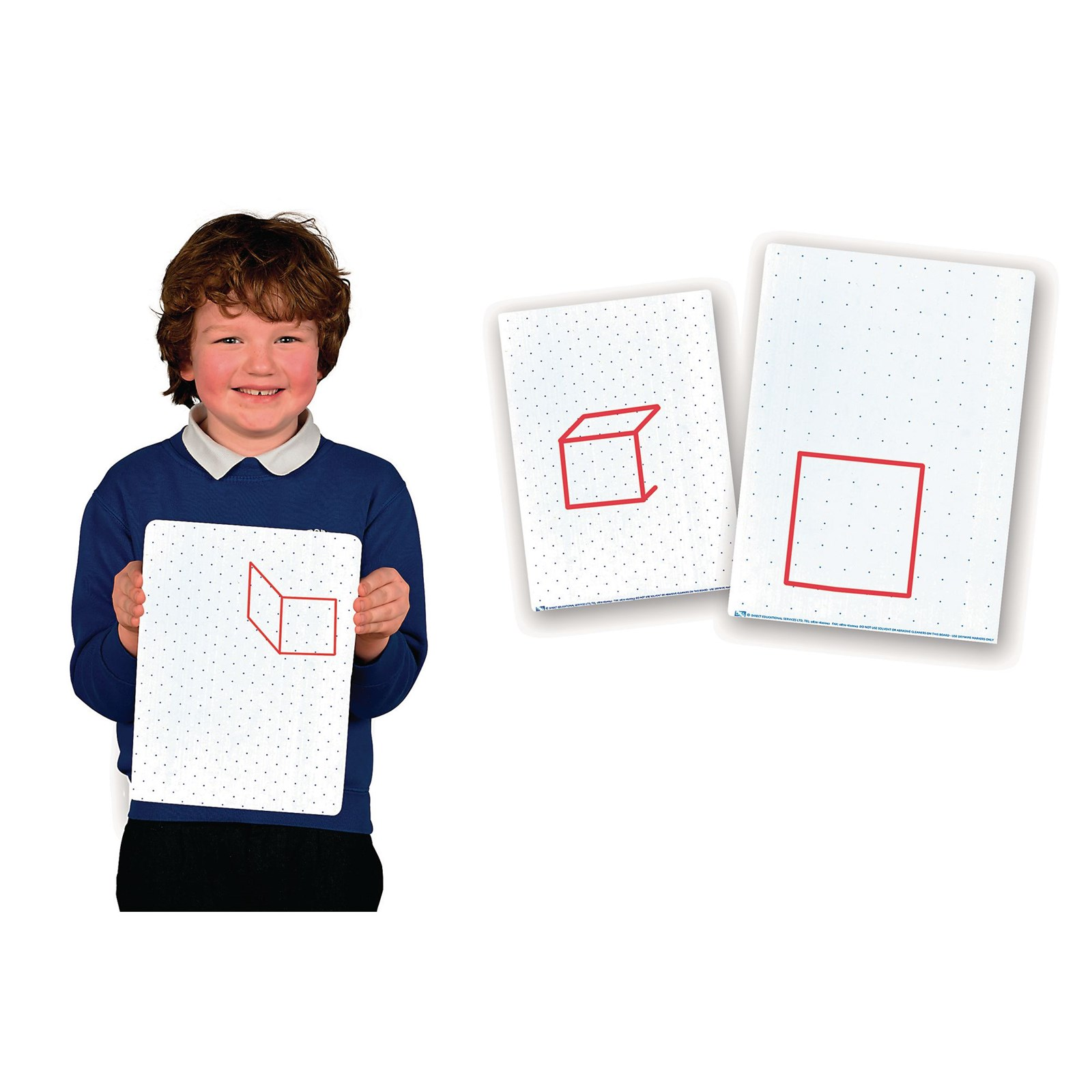 Double Sided Isometric/Square Dot Dry-Erase Boards - Pupil Size - Pack 30