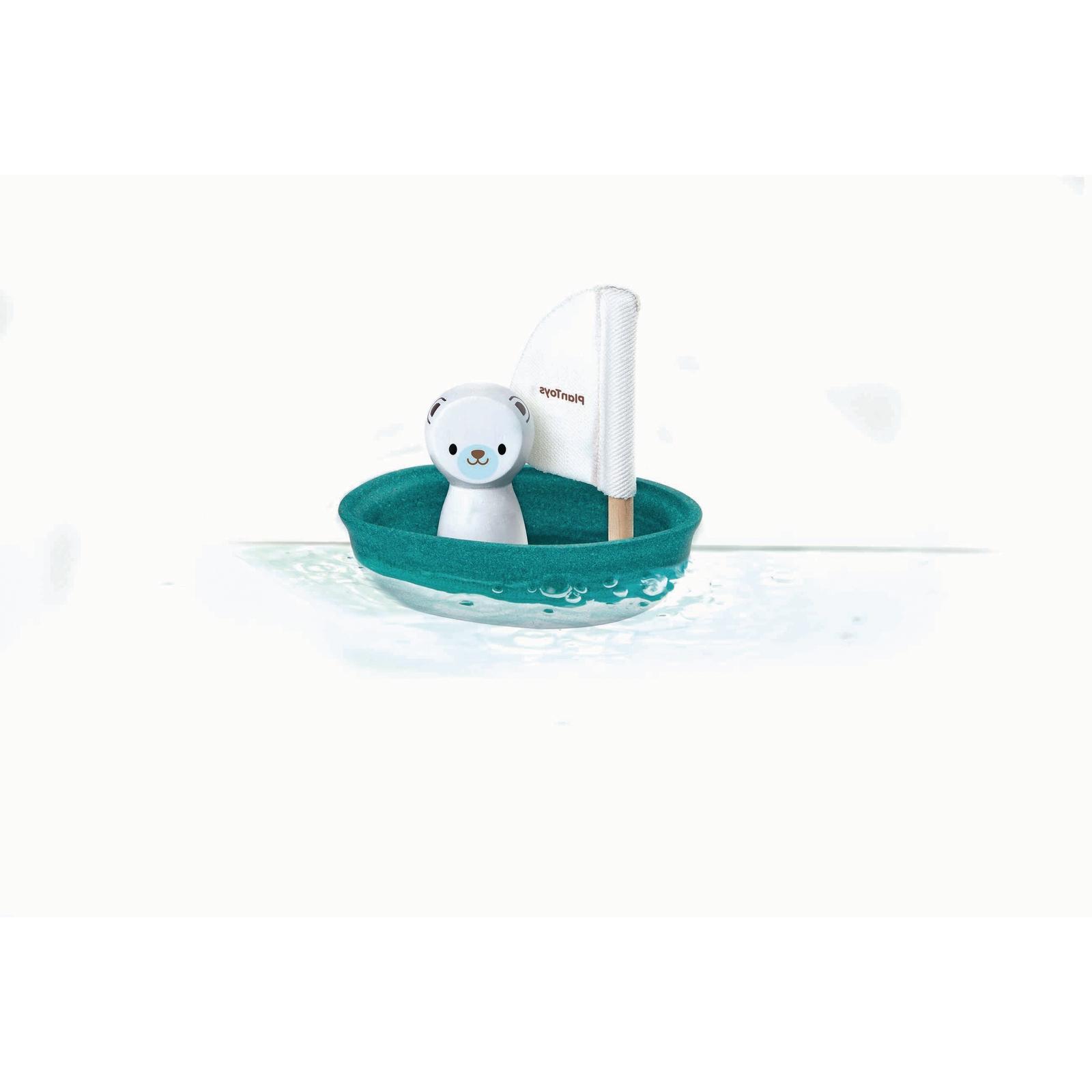 PlanToys® Water Play - Polar Bear Sailing Boat