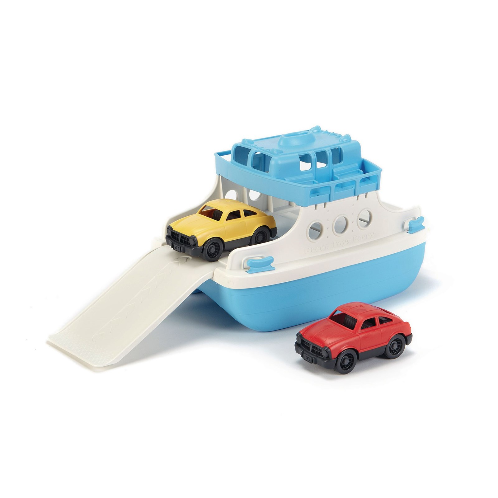 Green Toys Ferry and Cars